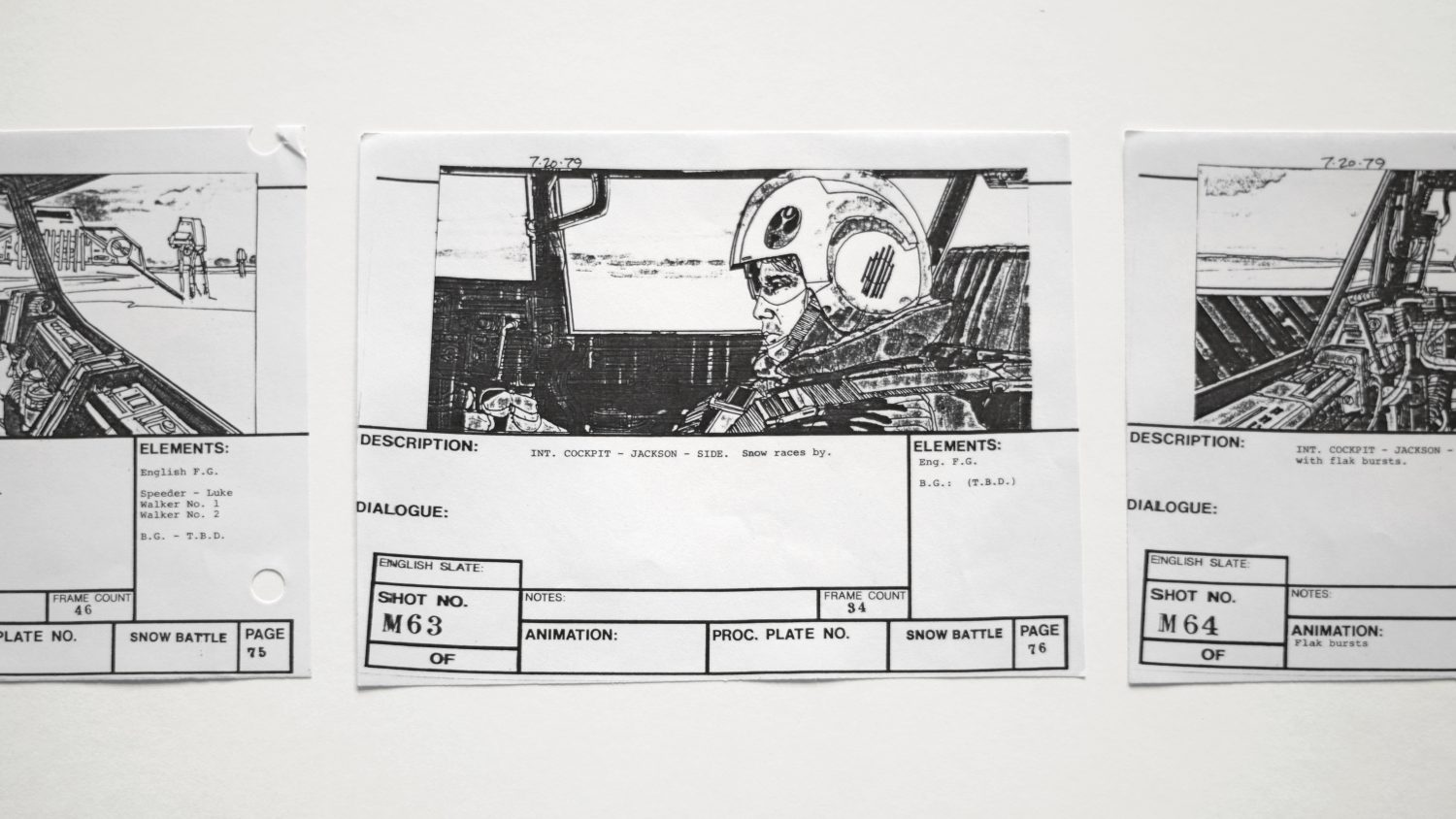 video ad storyboard